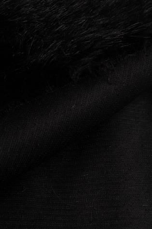 Tkanina eko-futro czarny 150cm 490g/m2 thumbnail
