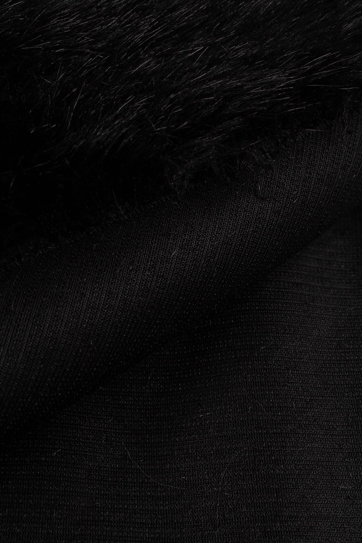 Tkanina eko-futro czarny 150cm 490g/m2