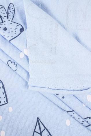 Knit - Sweatshirt Fleece - Light Blue - Winter Bunnies - 180 cm - 180 g/m2 thumbnail
