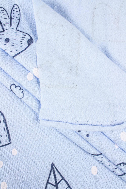 Knit - Sweatshirt Fleece - Light Blue - Winter Bunnies - 180 cm - 180 g/m2