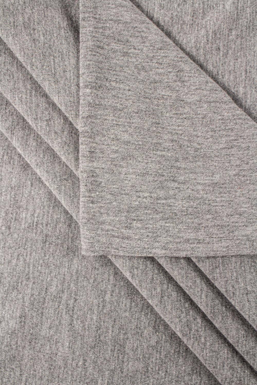 Dzianina jersey szary melanż - 90cm / 180cm 200g/m2