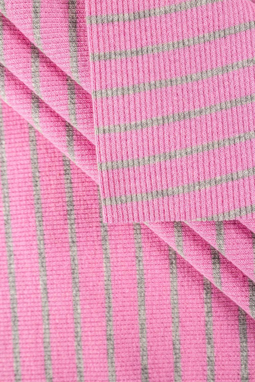 Knit - Welt - Ribbed - Pink/Grey Stripes - 50 cm/100 cm - 260 g/m2