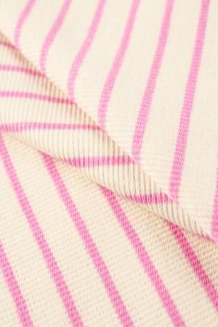 Knit - Welt - Ribbed - Ecru/Pink Stripes - 50 cm/100 cm - 260 g/m2 thumbnail