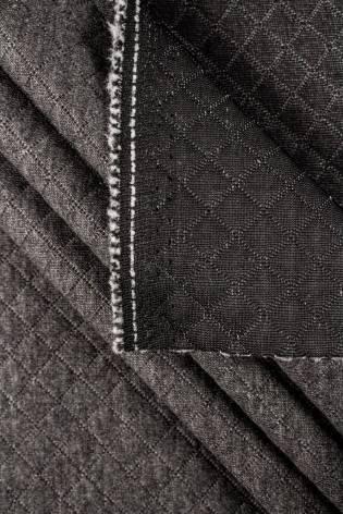 Dzianina pikowana - szary - 155cm 340g/m2 thumbnail