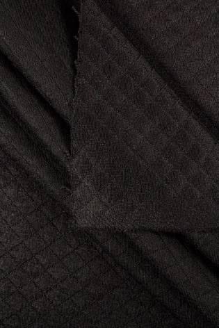 Dzianina pikowana - czarny - 155cm 340g/m2 thumbnail