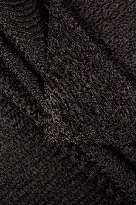 Dzianina pikowana - czarny - 155cm 340g/m2