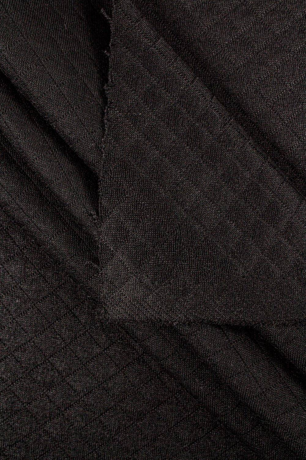 Knit - Quilted - Black - 155 cm - 340 g/m2