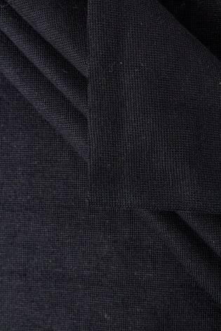 Knit - Welt - Smooth - Black - GOTS - 80 cm/160 cm - 290 g/m2 thumbnail