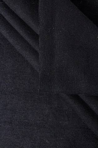 Ściągacz gładki GOTS - czarny - 80cm/160 290g/m2 thumbnail