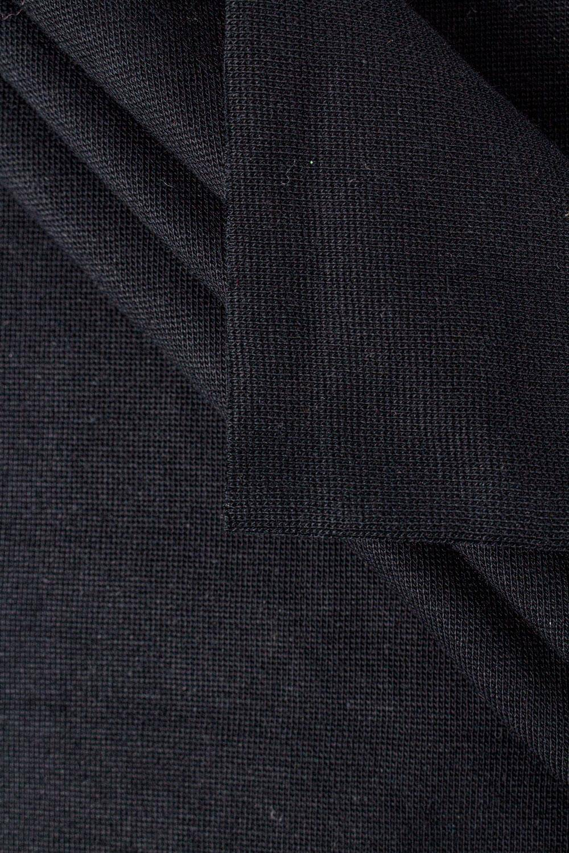Knit - Welt - Smooth - Black - GOTS - 80 cm/160 cm - 290 g/m2