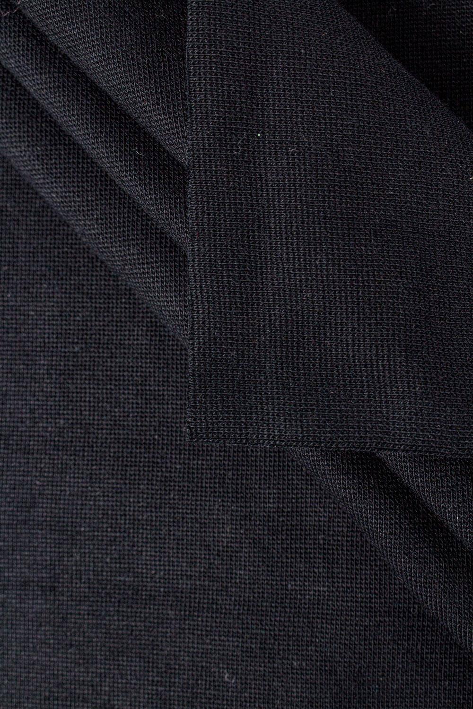 Ściągacz gładki GOTS - czarny - 80cm/160 290g/m2