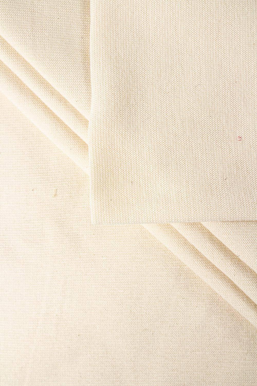 Ściągacz gładki GOTS - pranie (ecru) - 80cm/160 290g/m2