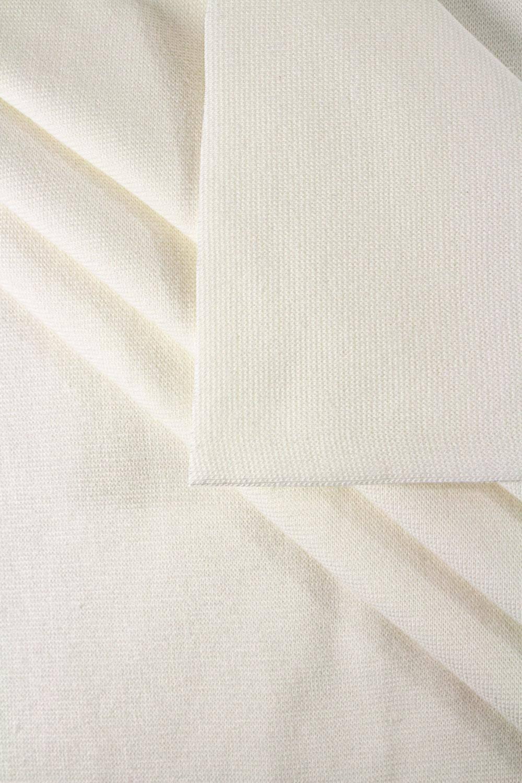 Ściągacz gładki GOTS - chemiczna biel (śmietanka) - 80cm/160 260g/m2