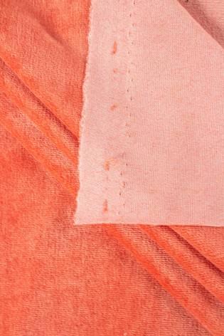 Dzianina welurowa łososiowy - 170cm 250g/m2 thumbnail