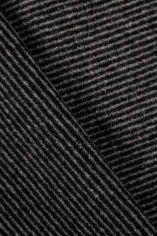 Fabric - Gabardine - Black & Grey Stripes - 150 cm - 360 g/m2 thumbnail