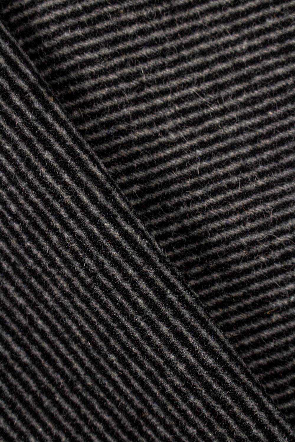 Fabric - Gabardine - Black & Grey Stripes - 150 cm - 360 g/m2