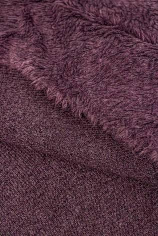 Fabric - Fur/Sheepskin - Purple - 150 cm - 400 g/m2 thumbnail