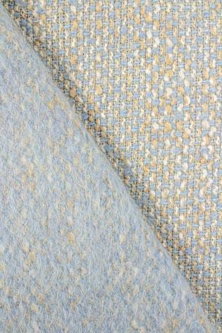 Tkanina tweed błękitny z lekkim meszkiem - 160cm 410g/m2 thumbnail