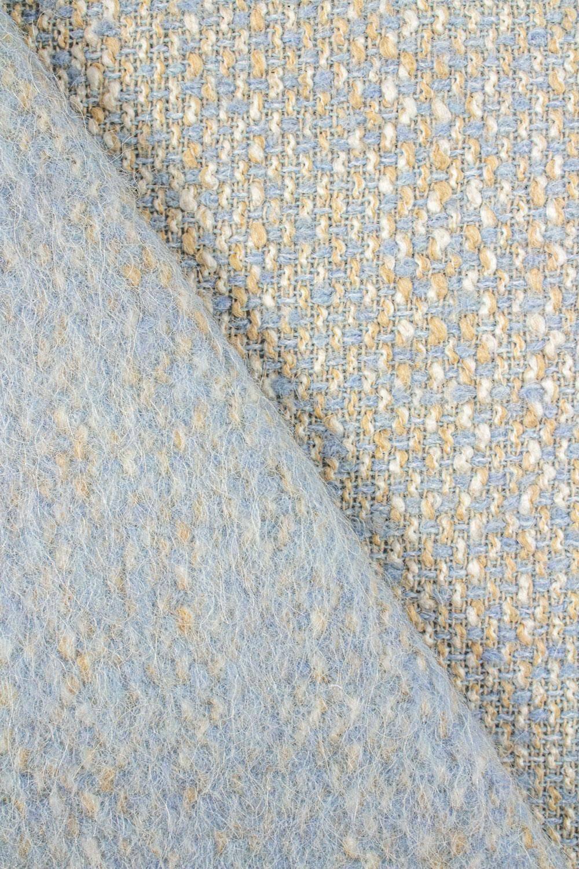 Tkanina tweed błękitny z lekkim meszkiem - 160cm 410g/m2