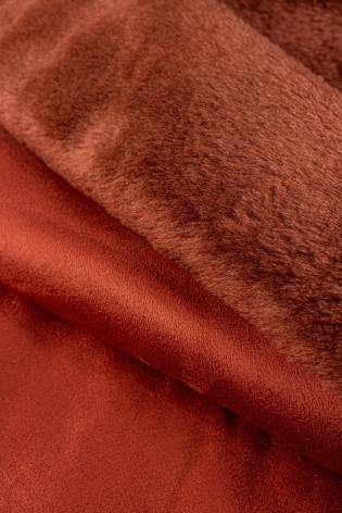 Fabric - Eco Fur With Suede Underside - Copper/Brick Colour - 140 cm - 660 g/m2 thumbnail