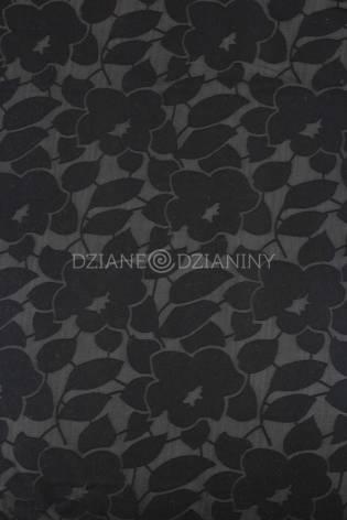 Dzianina wiskozowa transparenta - kwiaty/listki - 145cm 150g/m2 thumbnail