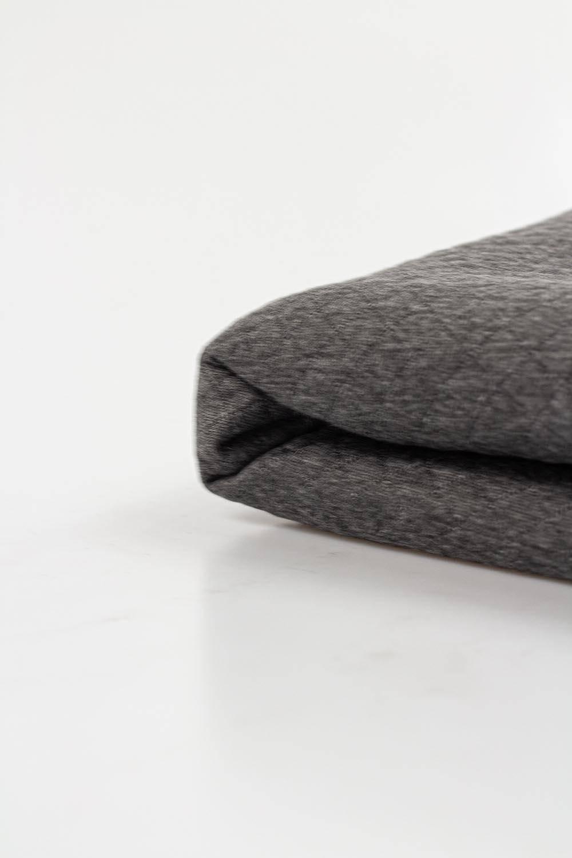 Dzianina dresowa pikowana - szary melanż - 155cm 280g/m2