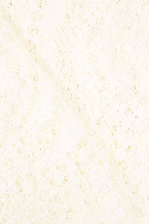 Tkanina koronka w kwiaty - śmietankowy - 150cm 170g/m2
