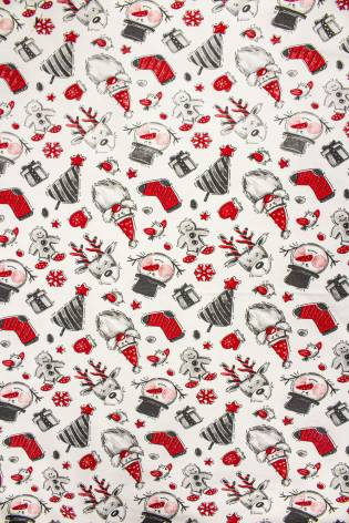 Dresówka pętelka z motywem świątecznym - 190cm 240g/m2 thumbnail