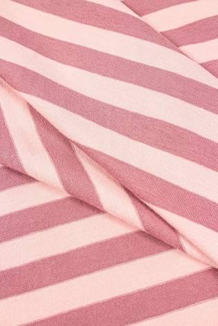 Dzianina jersey w paski różowo/cieliste - 190cm 200g/m2 thumbnail