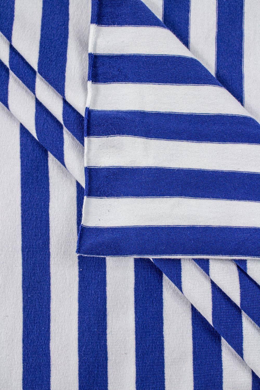 Dzianina jersey w paski biało/niebieskie - 190cm 200g/m2