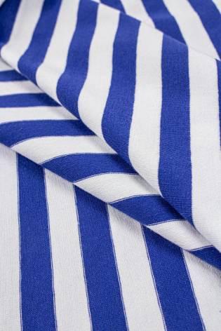 Dzianina jersey w paski biało/niebieskie - 190cm 200g/m2 thumbnail