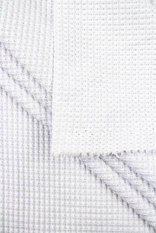 Dzianina strukturalna wafelek biała - 155cm 270g/m2 thumbnail