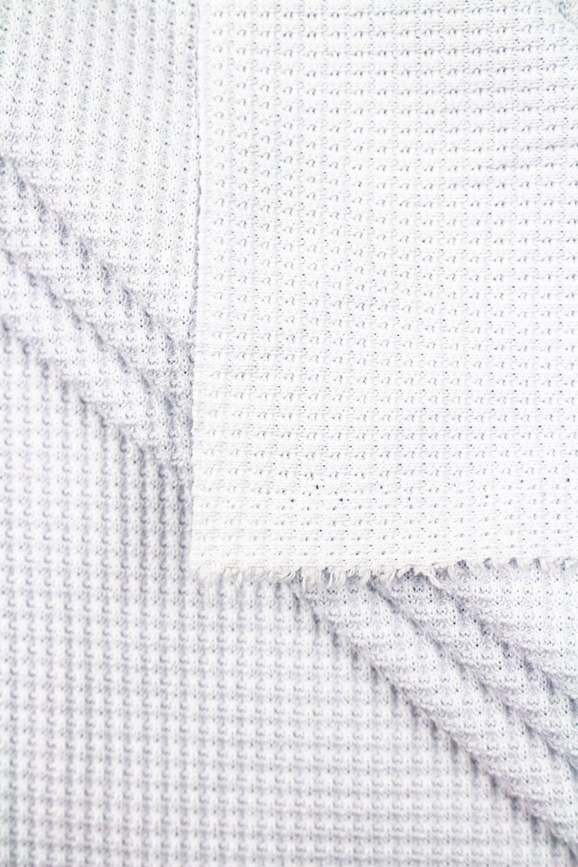 Dzianina strukturalna wafelek biała - 155cm 270g/m2