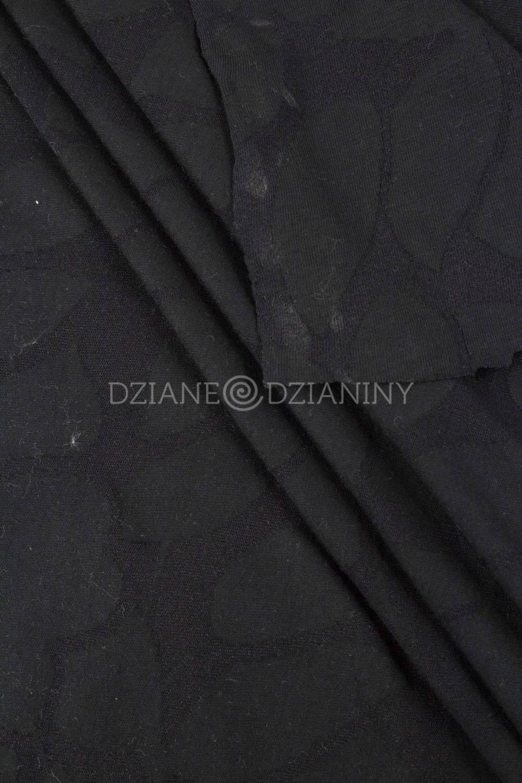 Dzianina wiskozowa transparenta - kwiaty/listki - 145cm 150g/m2