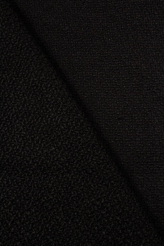 Tkanina wełniana czarna - 150cm 550g/m2