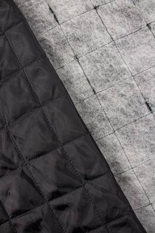 Tkanina pikowana wewnętrzna  czarna - 160cm 125g/m2 thumbnail