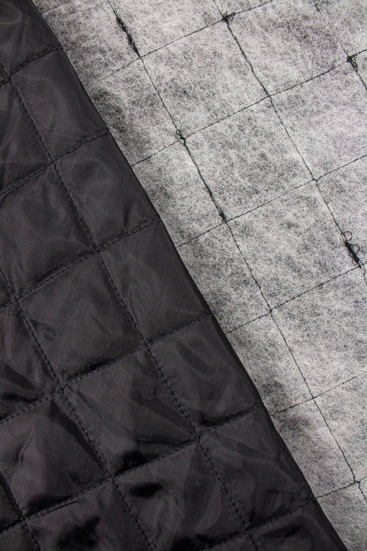 Tkanina pikowana wewnętrzna  czarna - 160cm 125g/m2