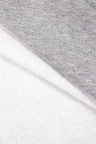 Dzianina dresówka drapana szary melanż - 180cm 340g/m2 thumbnail
