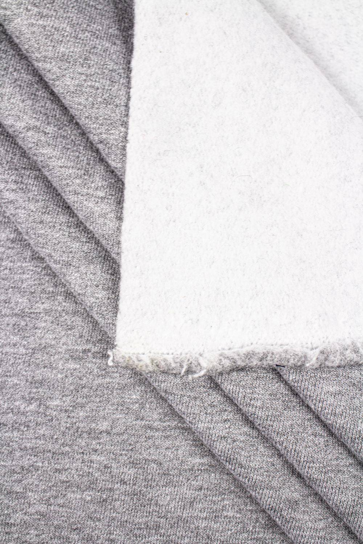 Dzianina dresówka drapana szary melanż - 180cm 340g/m2