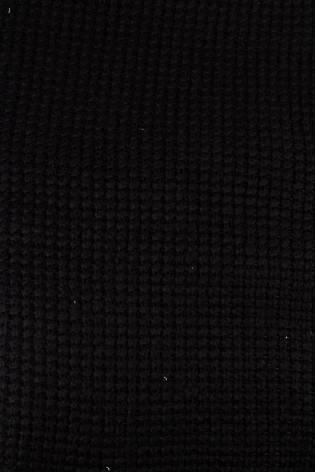 Dzianina sweterkowa z dodatkiem wełny - czarny 140cm 360g/m2 STOK thumbnail