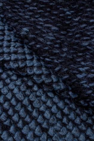 Dzianina sweterkowa z dodatkiem wełny - granatowo/niebieski 140cm 360g/m2 STOK thumbnail