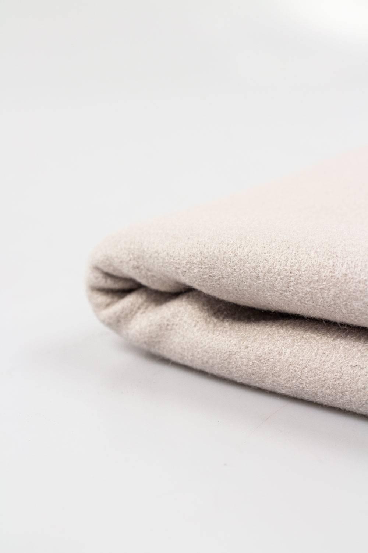Tkanina flausz wełniana - beżowy - 150cm 350g/m2 STOK