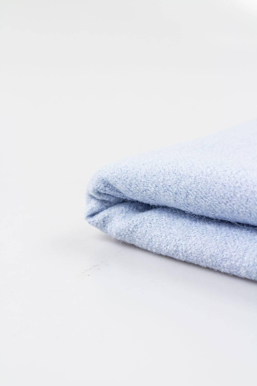 Tkanina flausz wełniana - niebieski - 150cm 350g/m2 STOK