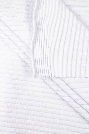 Dzianina jersey strukturalny biały - paski  - 130m 170g/m2 thumbnail