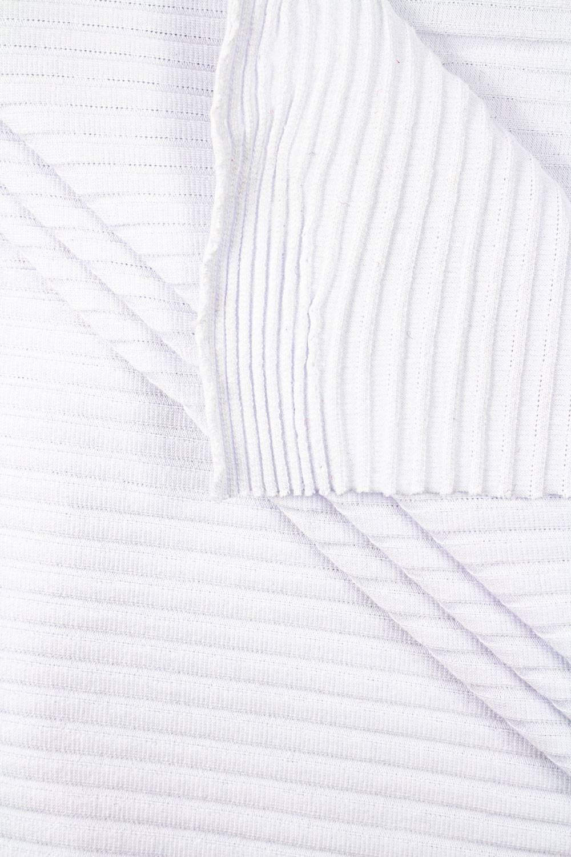 Dzianina jersey strukturalny biały - paski  - 130m 170g/m2