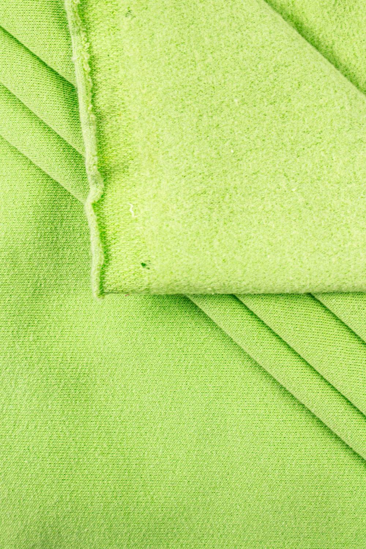 Dzianina dresówka drapana zielony - 175cm 200g/m2