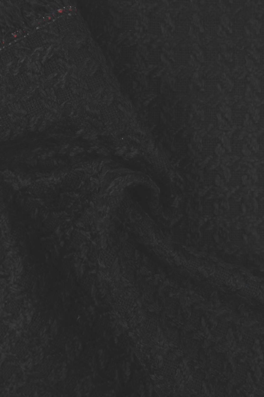 Tkanina płaszczowa strukturalna czarna KUPON 2 MB