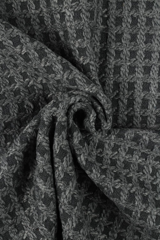 Tkanina płaszczowa strukturalna szara KUPON 2 MB