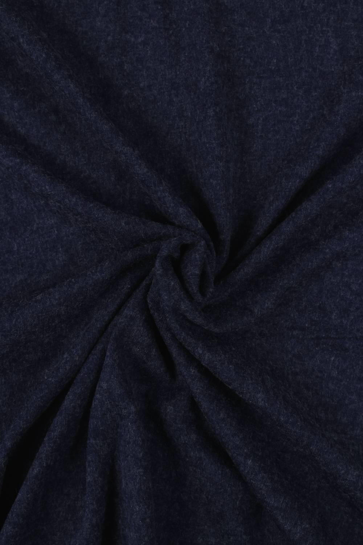 Dzianina jersey granatowy melanż szemrany KUPON 2 MB