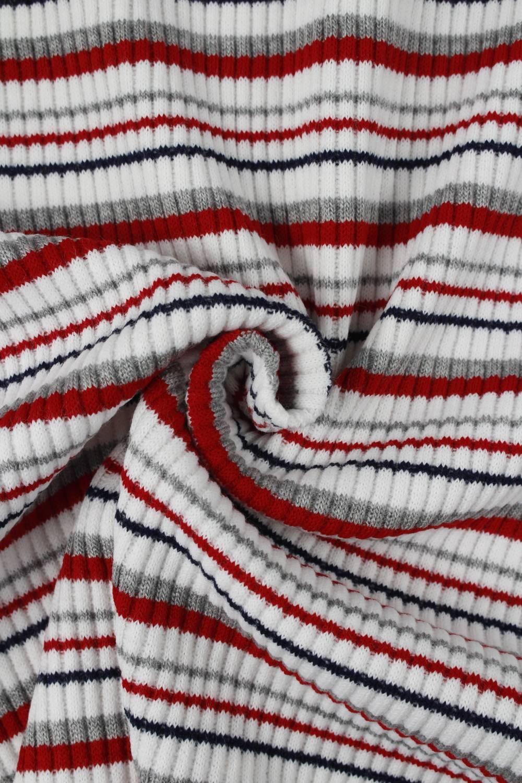 Dzianina sweterkowa kolorowe paski KUPON 2 MB